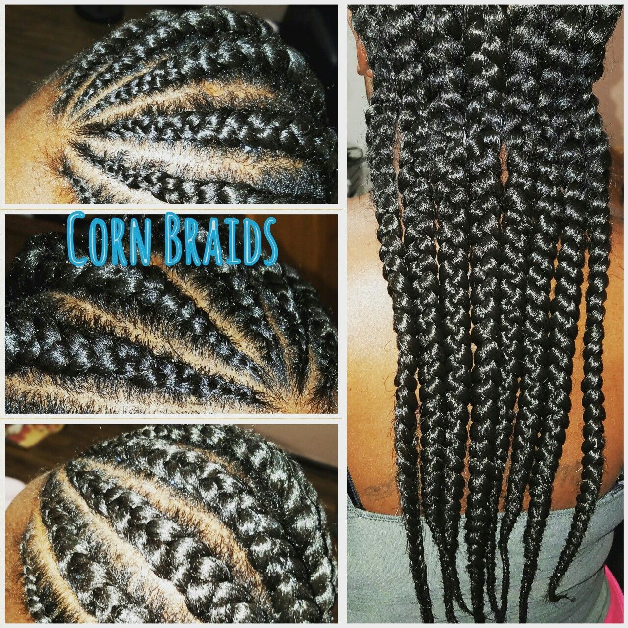 Cornrows on Natural hair www.styleseat.com/theresaford