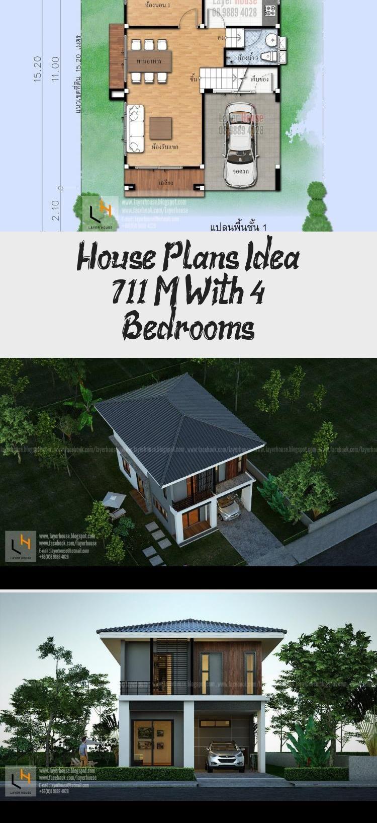 House Plans Idea 7x11 M With 4 Bedrooms Sam House Plans Smallhouseplans500sqft Smallhouseplans3bedroom Smallhous In 2020 House Plans Small House Small House Plans