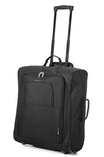 Easyjet British Airways 56x45x25cm Maximum Cabin Hand Luggage Roved Trolley Bag Huge 60l Capacity Black