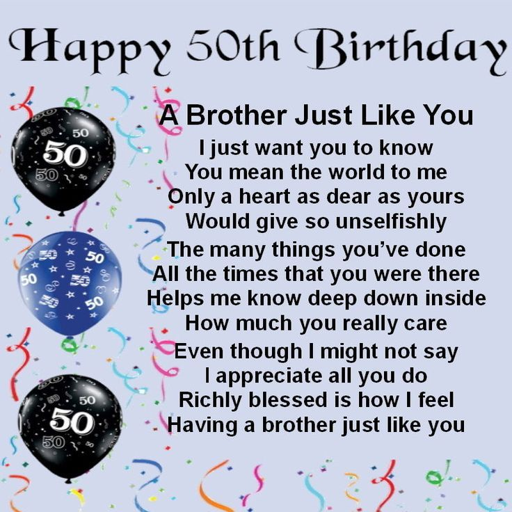 Image Result For Happy 50th Birthday Brother