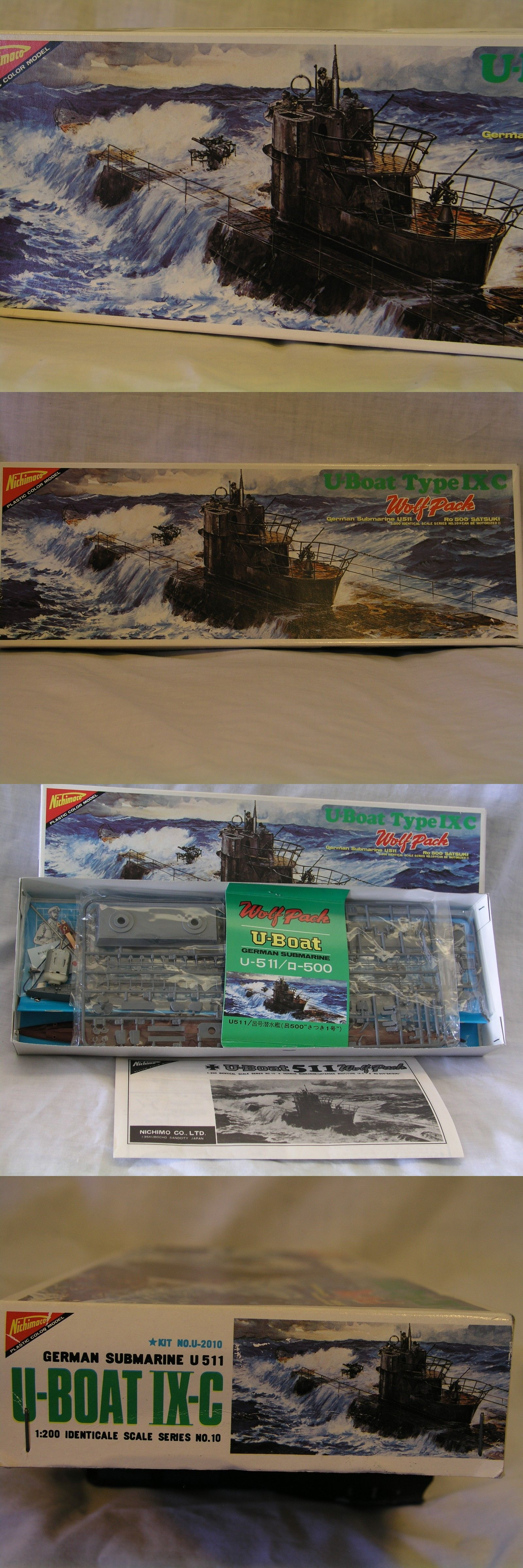 hight resolution of sea 2590 new nichimo 1 200 scale motorized german u boat ixc class u 511 sealed parts buy it now only 32 5 on ebay nichimo scale motorized