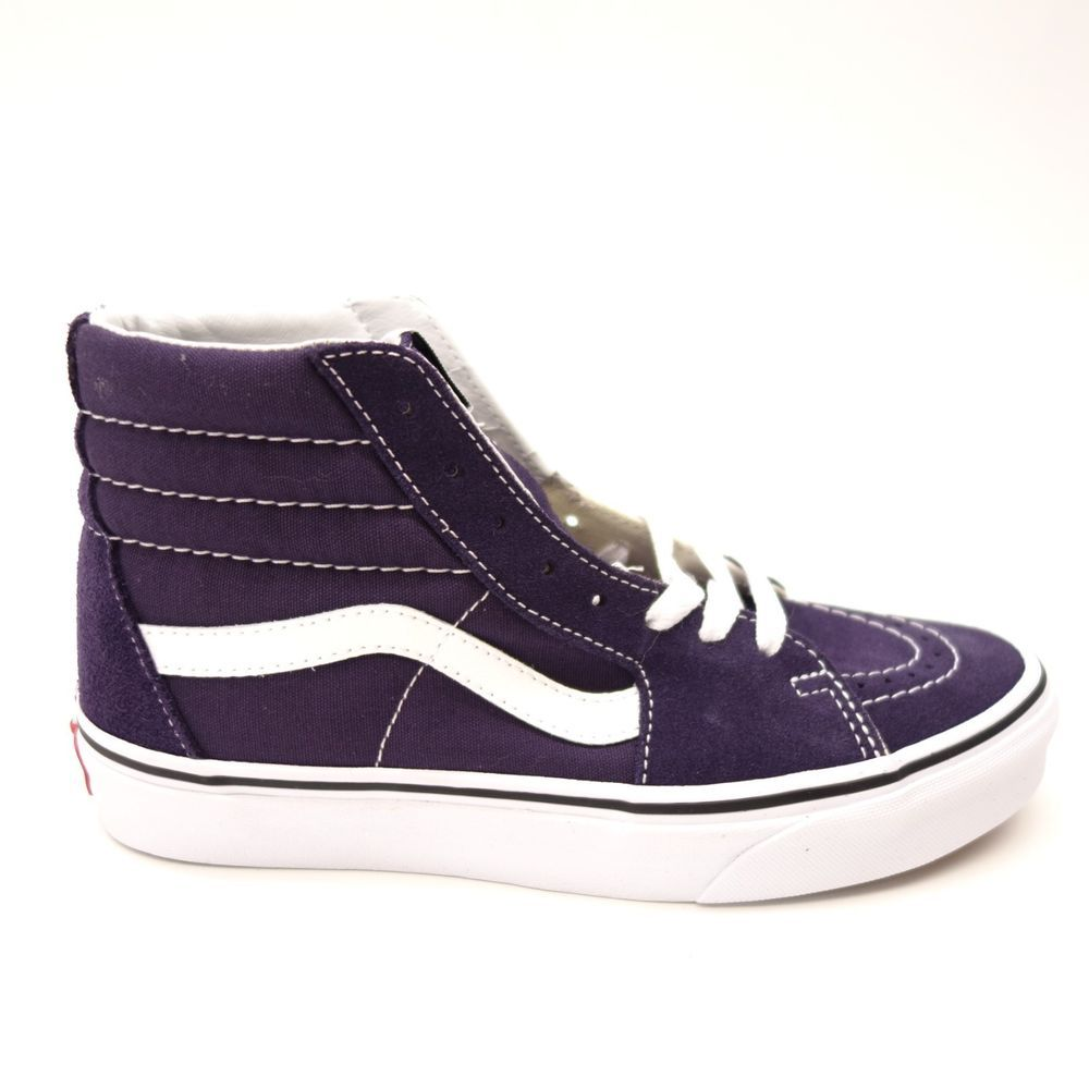 e3b6b44f24 New Vans Womens Purple Slim Skater High Top Canvas Shoes Size Left 7 Right  6.5  VANS  HighTop