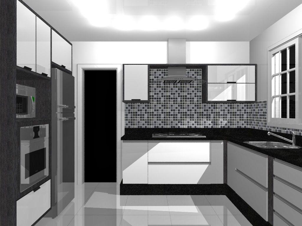 Decor Ambientes Interiores Eleg Ncia Da Cozinha Preta E Branca