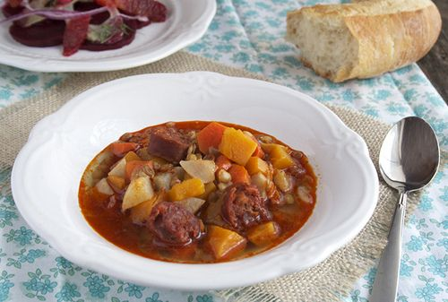 Lentil Stew with Butternut Squash and Chorizo Sausage by Diana Bauman, via Flickr