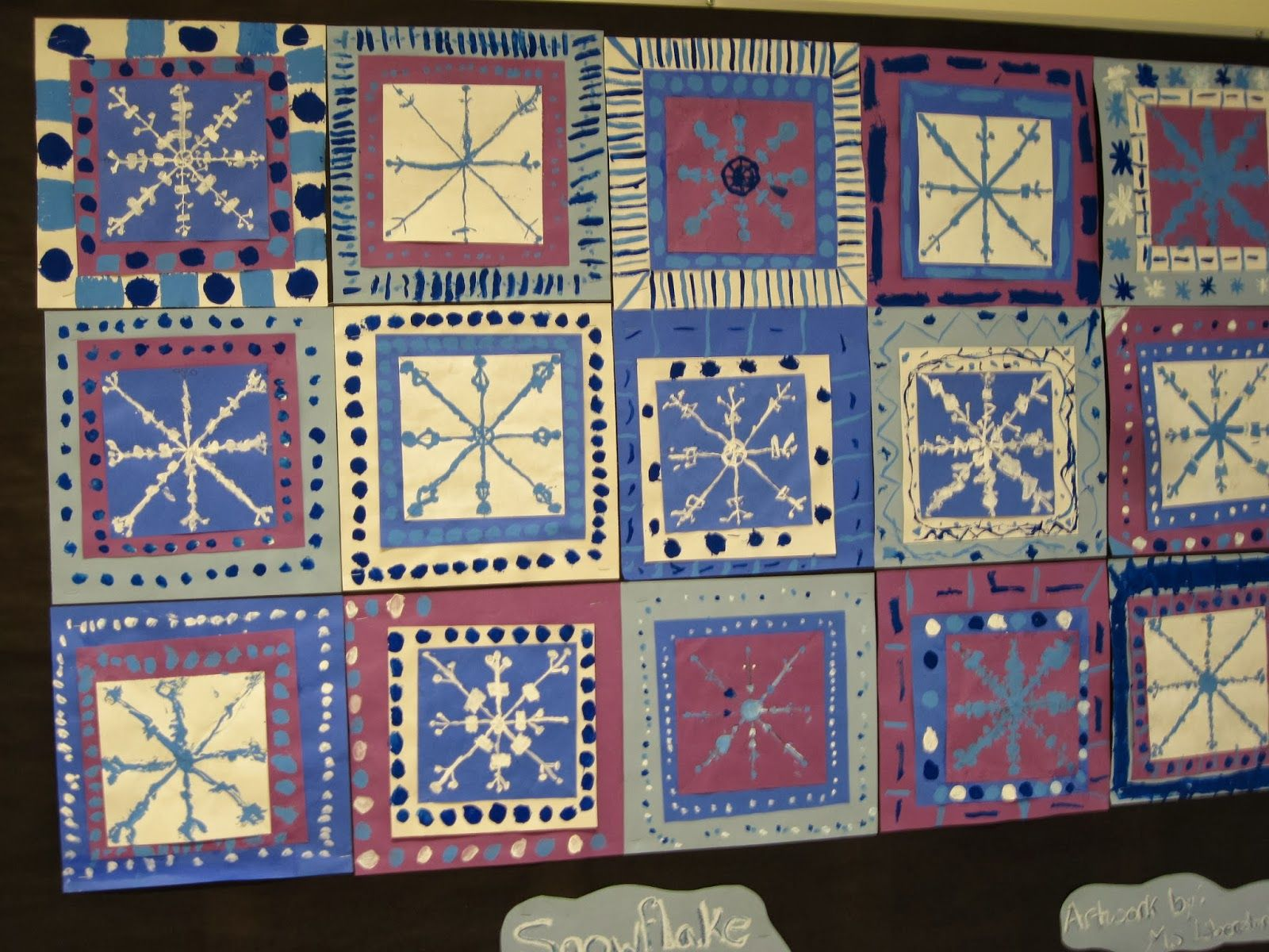 Snowflake Quilt 4th Grade Lines Dots And Doodles