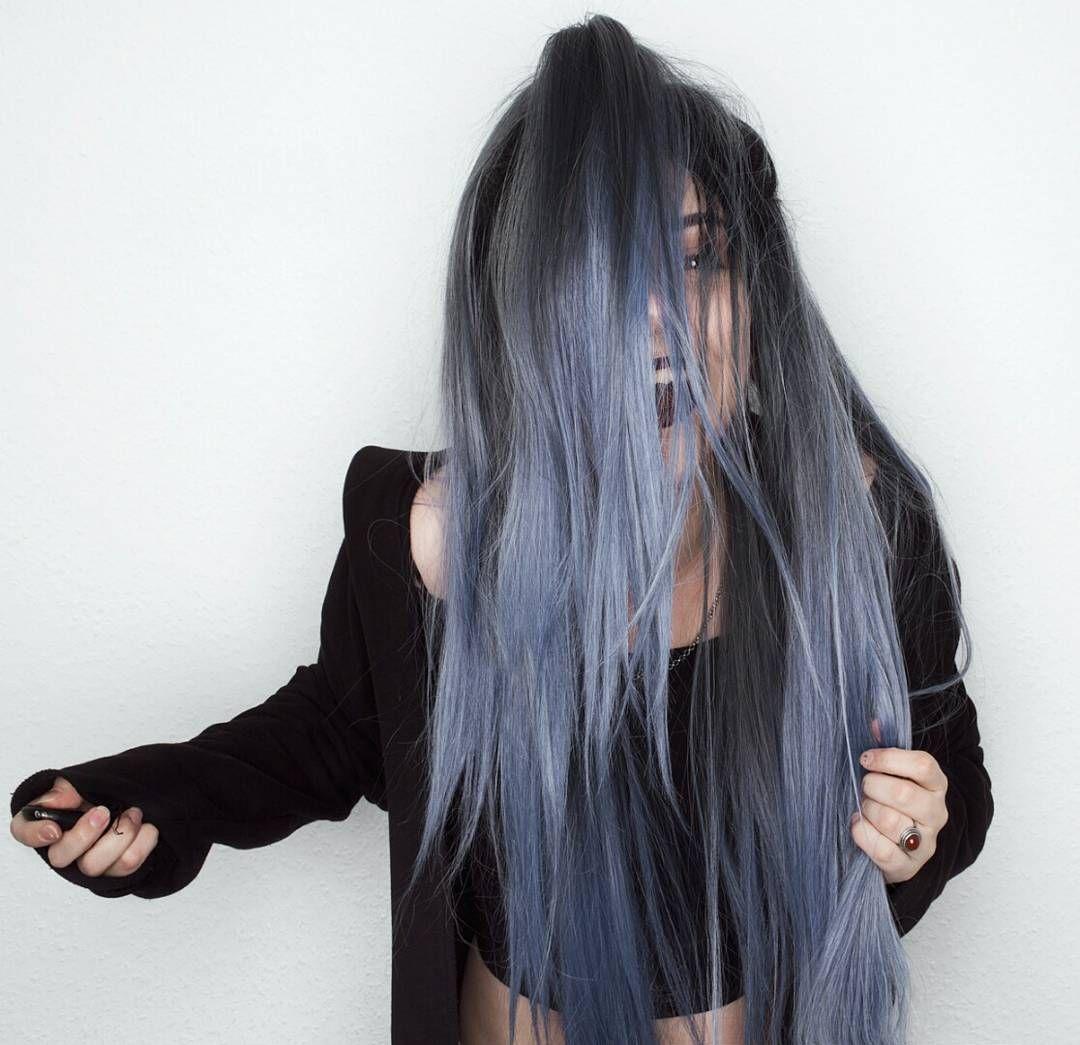 Rain drop blue long vincy synthetic lace front wig rain drop blue