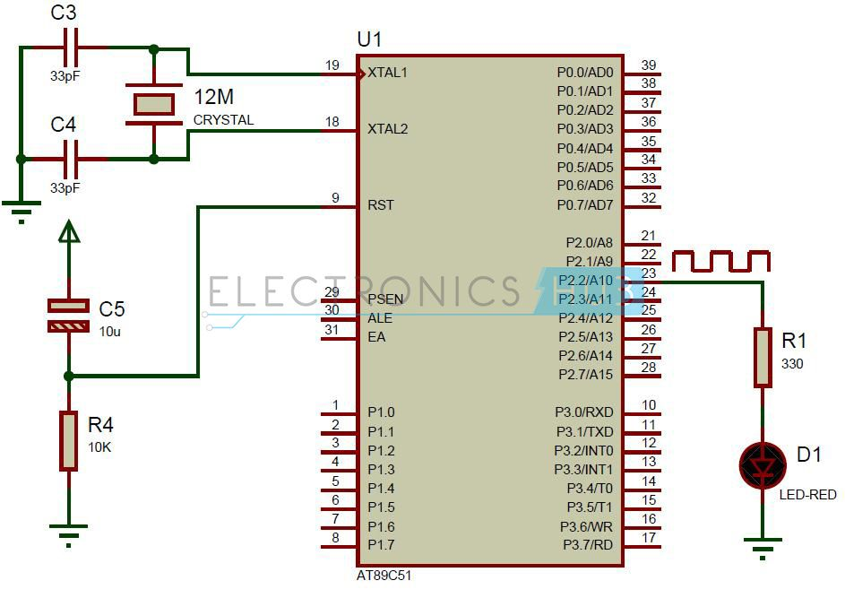 Delay using 8051 Timers