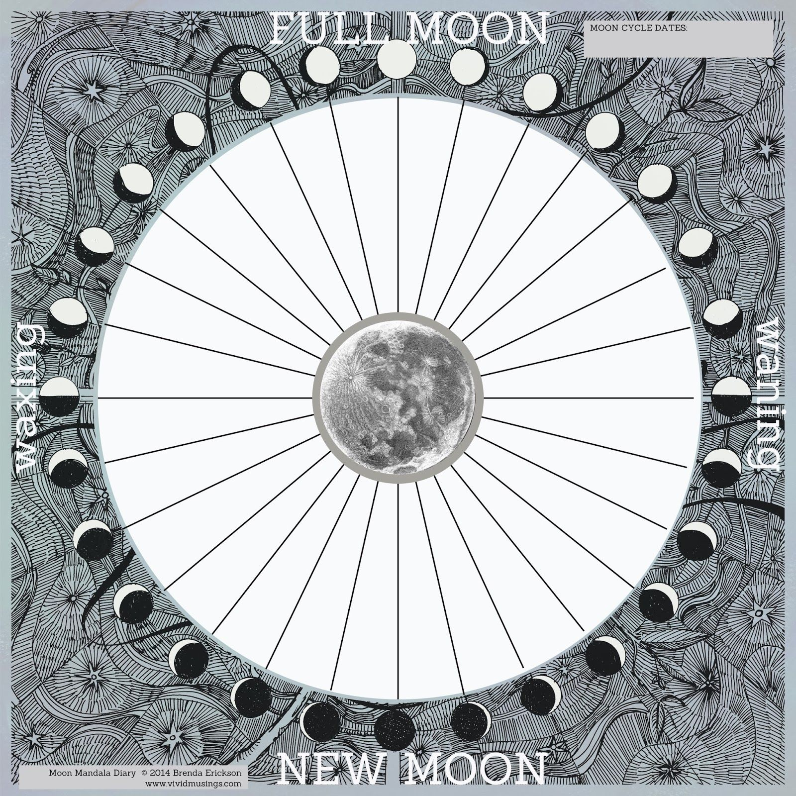 the kitchen drawer: Moon Journal Template | Nature Journal ...