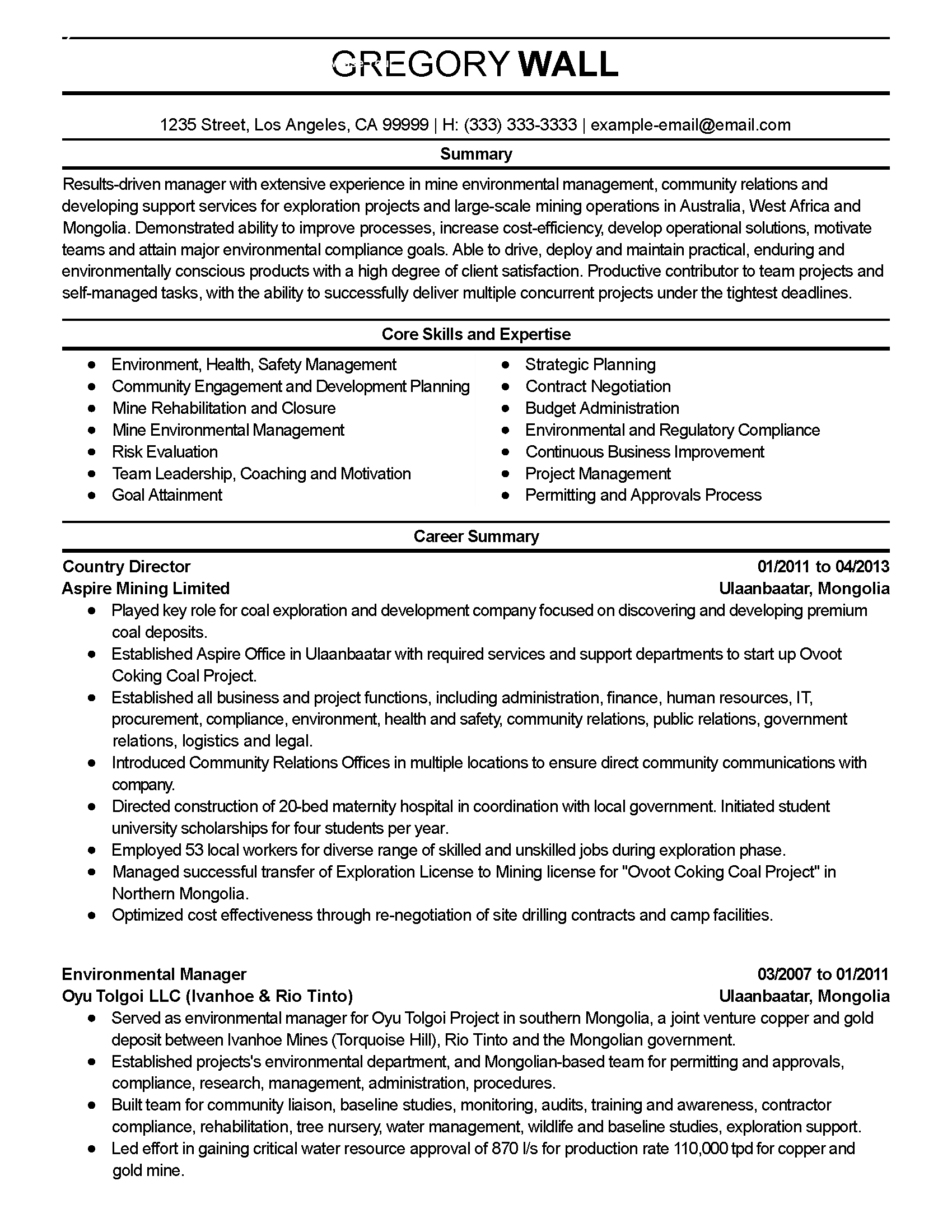 Environmental Health And Safety Cover Letter Resume Template Job Resume Samples Resume Template Professional