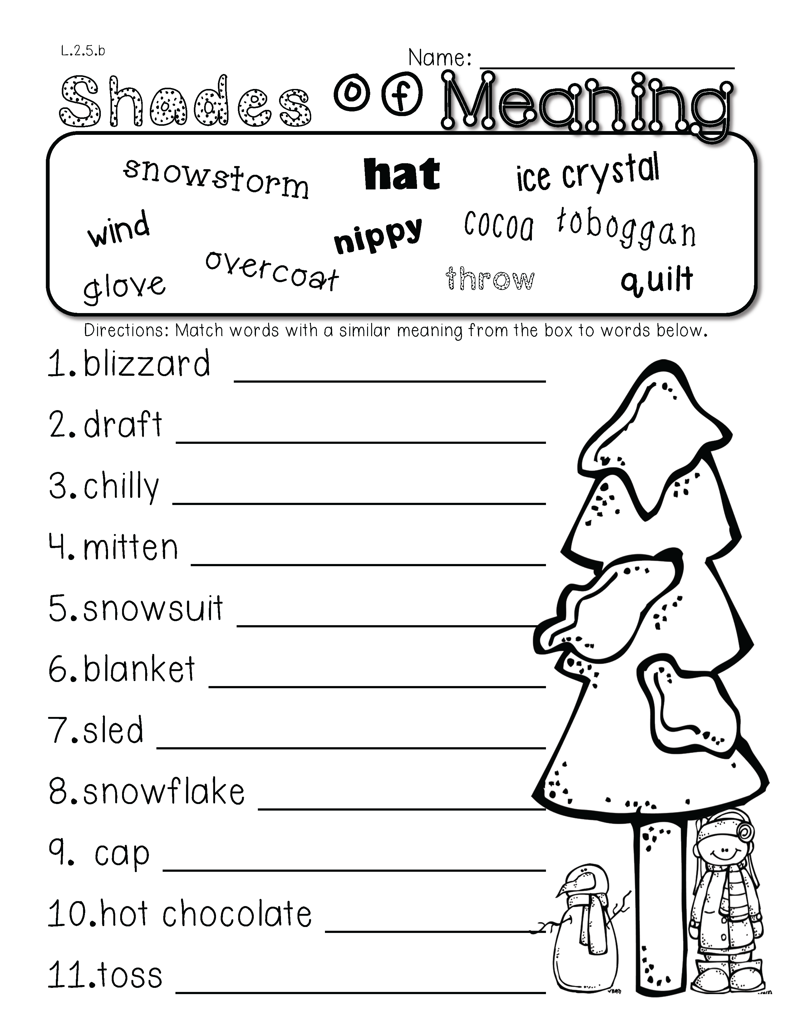 medium resolution of 2nd Grade Common Core: Winter Themed Math \u0026 ELA Pack 100% Aligned   2nd  grade reading