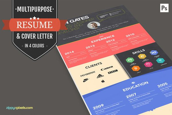 Print Ready Resume / CV Template Set