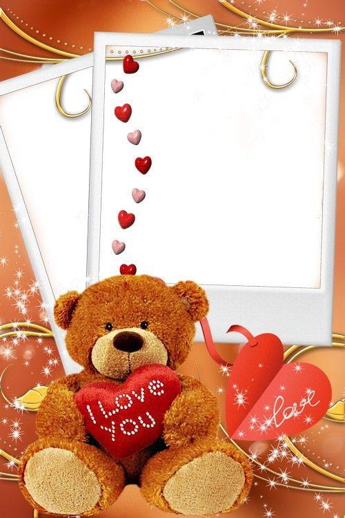 two frames in love valentines day - Valentines Picture Frames
