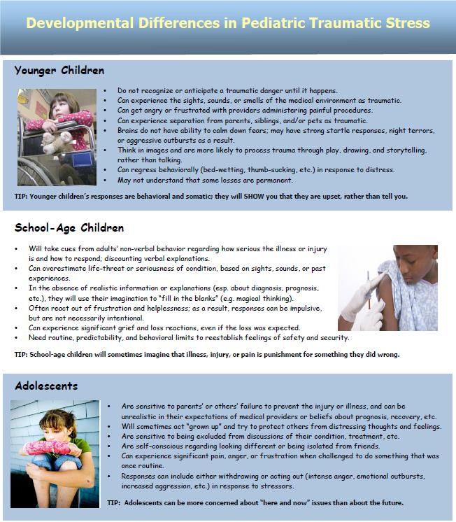 Developmental Difference in Pediatric Medical Traumatic Stress