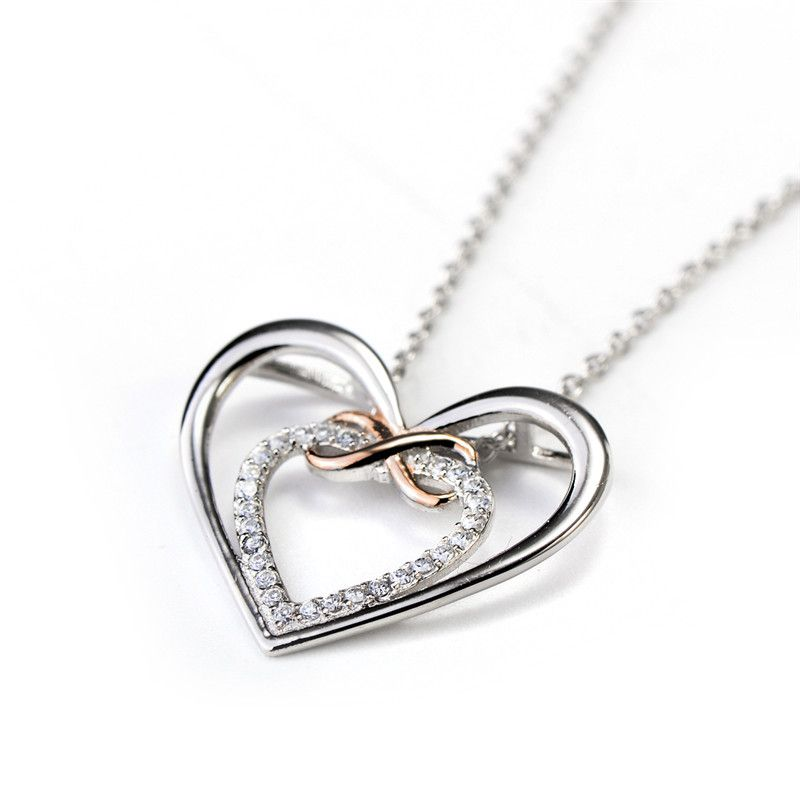 925 Sterling Silver Infinity Love Necklace Infinity Cross