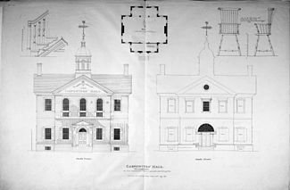 Carpenters Hall Elevations And Details Wikipedia The Free