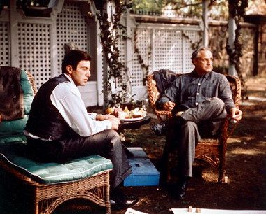 Picture of Marlon Brando as Don Vito Corleone, Al Pacino ...