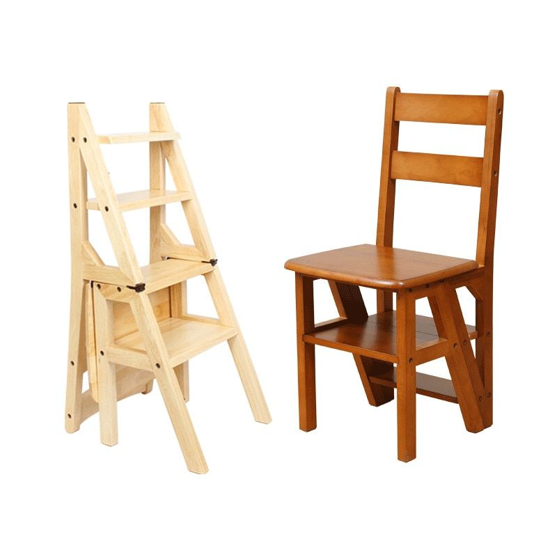 Find More Step Stools Step Ladders Information About Wooden Folding Library Ladder Chair Kitchen Furniture Step Ladder Ladder Chair Kitchen Step Ladder Chair