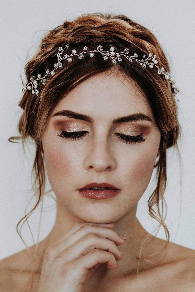 Boho Diadem, Haarband zur Hochzeit mit Blüten aus kleinen Perlen – Püppi