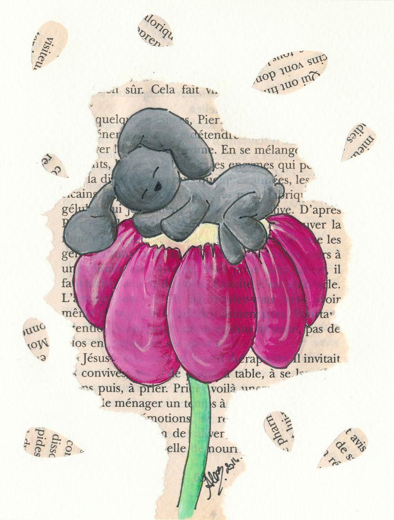 Carte Livre Dodo Fleur Les Pinceaux D Alexeli Carte Nalu Carterie