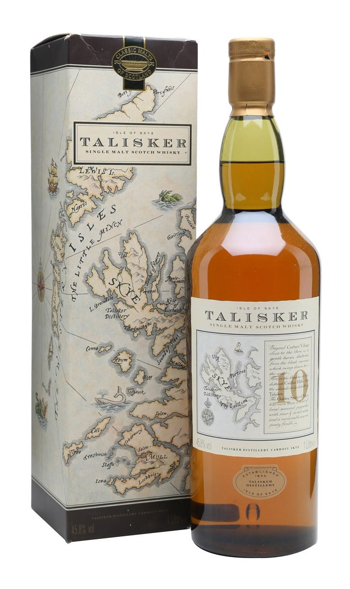 Talisker 10 Year Old Map Label Skye Drinkar