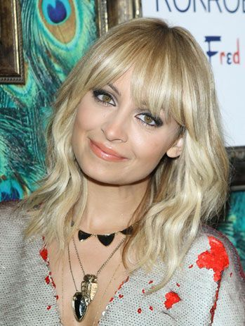 Blonde Medium Length Hairstyles With Fringe Pictures Medium