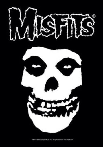 Misfits Band FIEND SKULL Color US FLAG Licensed T-Shirt All Sizes