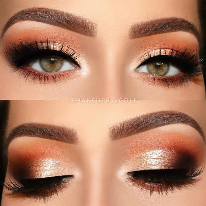 30 Cool Makeup Looks For Hazel Eyes And A Tutorial For Dessert #makeupeyeshadow