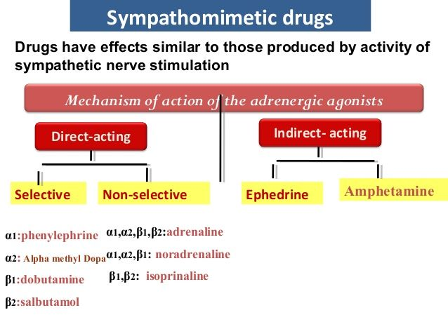 Sympathomimetic drugs | Biomed: Exam 3 | Pharmacology