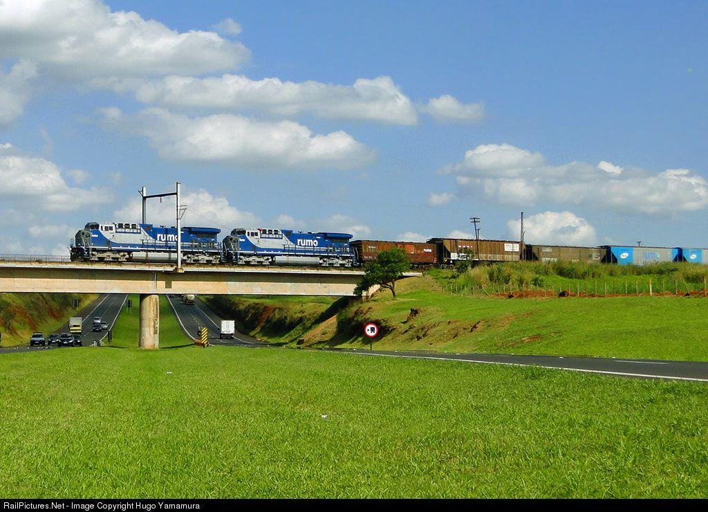 Net Photo 8295 Rumo Logistica GE AC4400CW At Araraquara SP Brazil By Hugo Yamamura