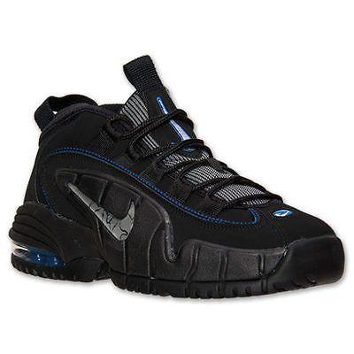 more photos 7d084 da888 Nike Air Max Penny Le Gs Big Kids 315519-014 Black Blue Basketball Shoes Sz  6.5