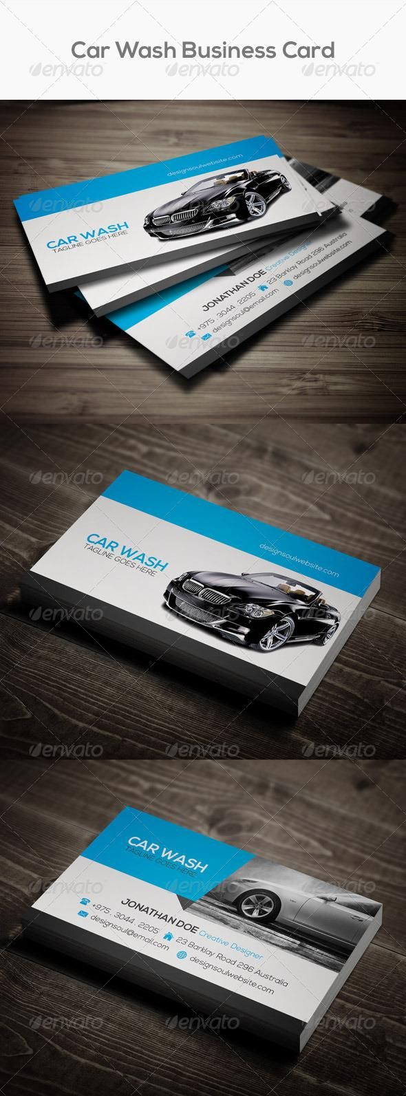 Car Wash Business Card | Car wash business, Car wash and Business cards