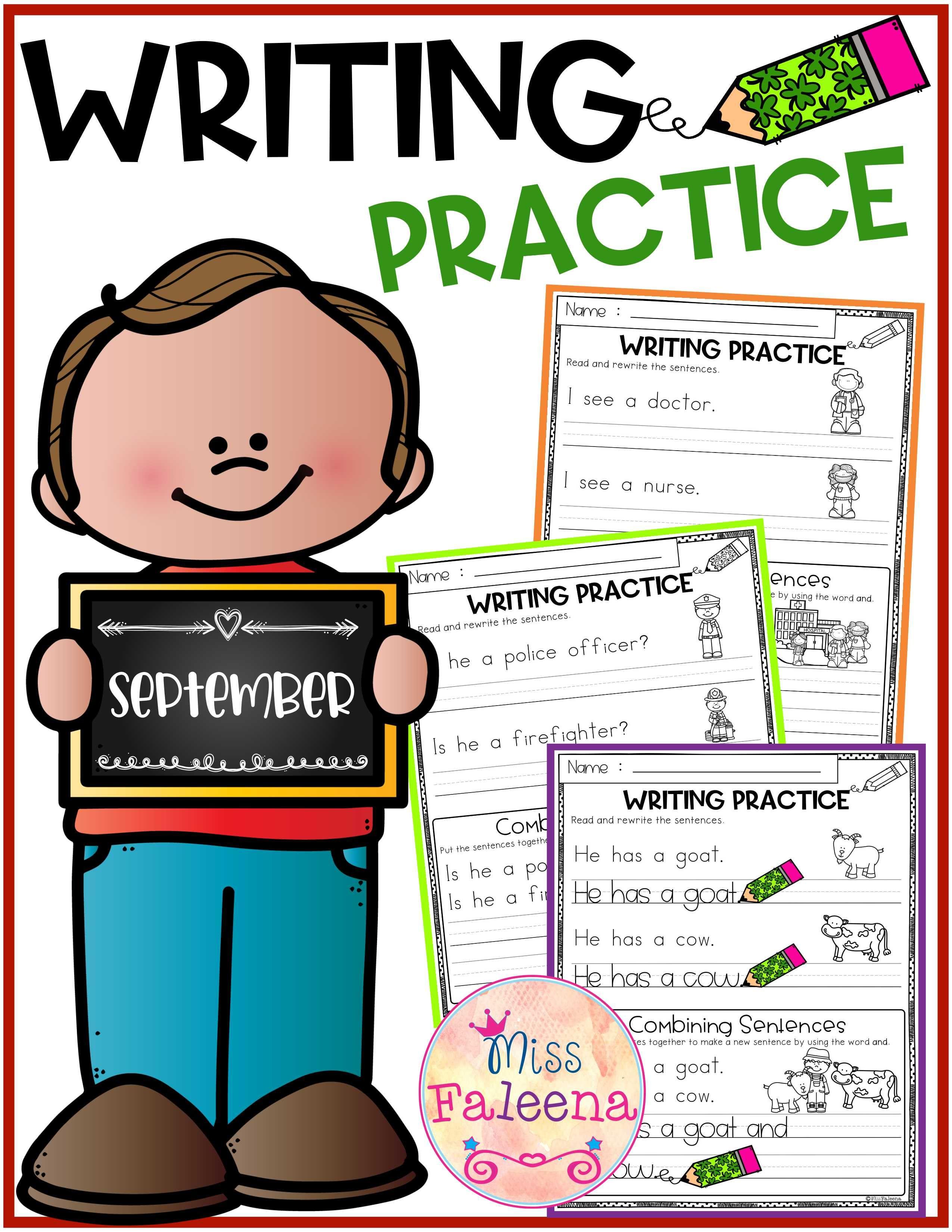 September Writing Practice Combining Sentences