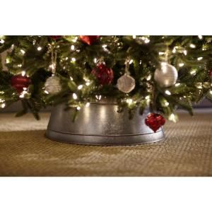Home Accents Holiday Galvanized Metal Christmas Tree Collar U151695g At The Home Depot Mobile Metal Christmas Tree Tree Collar Christmas Tree