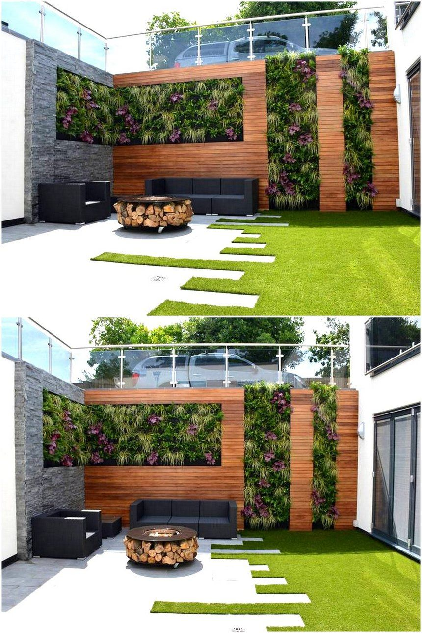 A Beautifully Designed Vertical Garden Idea Is The Part Of The Image The Fantastic Renovation Of The Outd Vertical Garden Design Vertical Garden Garden Design