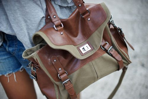 Leather and canvas.