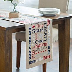 Patriotic Words Table Runner-love this runner...they have had some good ones lately