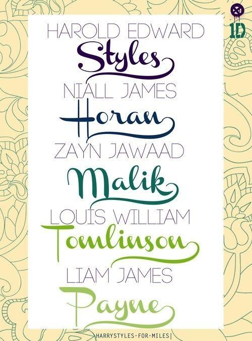 1 Direction Last Names