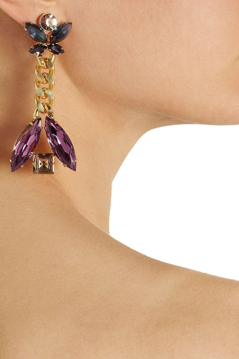 Etro Crystal clip earrings £157