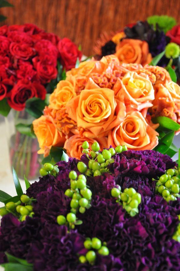 Protea Wedding - Jewel Toned Flower Bridesmaids Bouquets #FinishWithFlowers