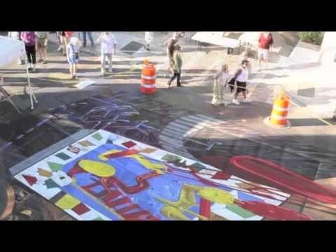 Tracy Lee Stum & Team 3D - 3D Street Art;  'World's Largest Mouse Trap', Sarasota Chalk Art Festival, Florida 2010