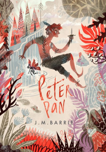 This illustration style of Peter Pan is quite cool I think. I have not seen the story protrude in this way before. It seems more arty and expressive than the usual imagery.