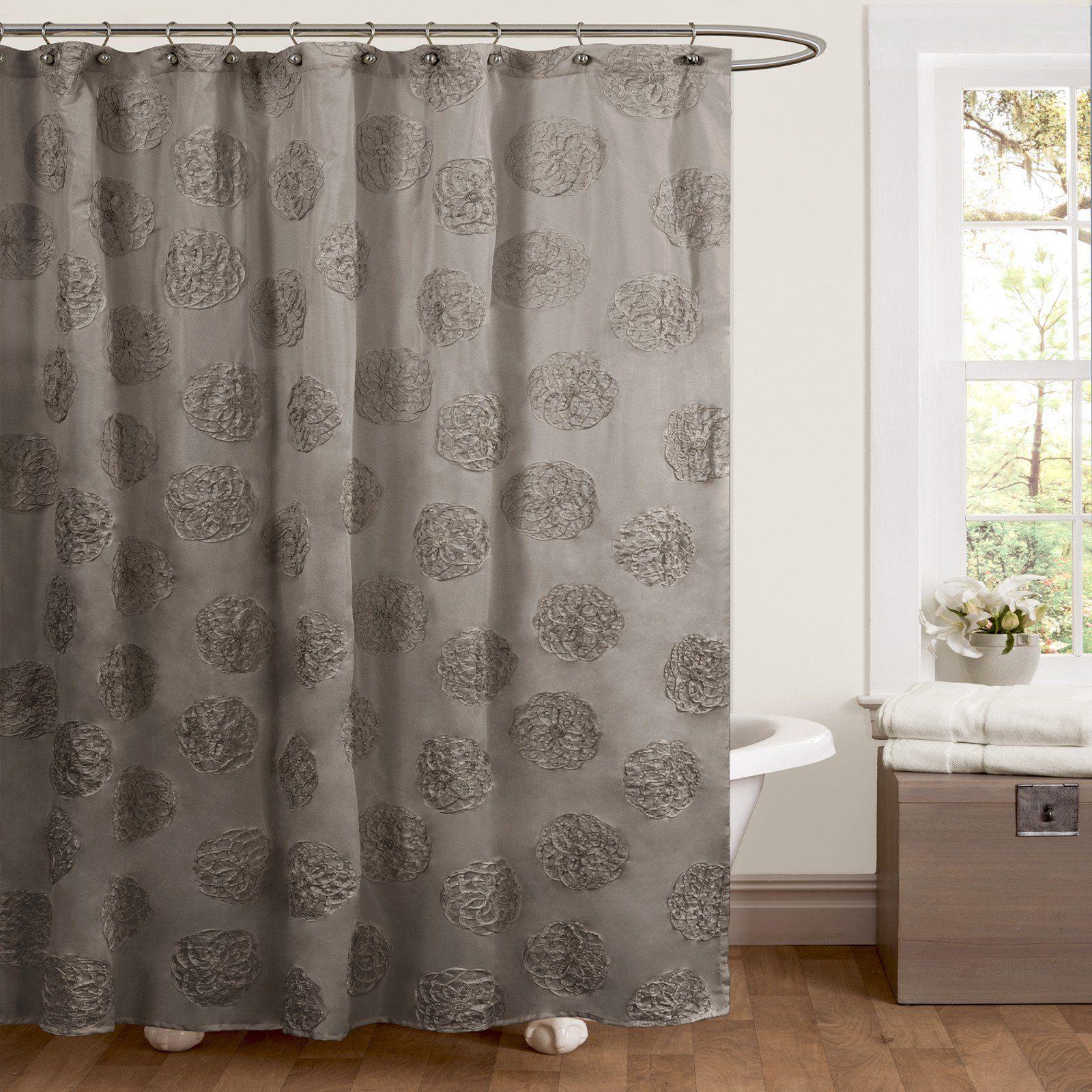 Samantha Shower Curtain Unique Shower Curtain Lush Decor