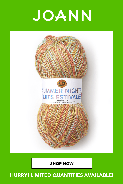 Lion Brand Yarn Summer Nights Bonus Bundle-Sunset