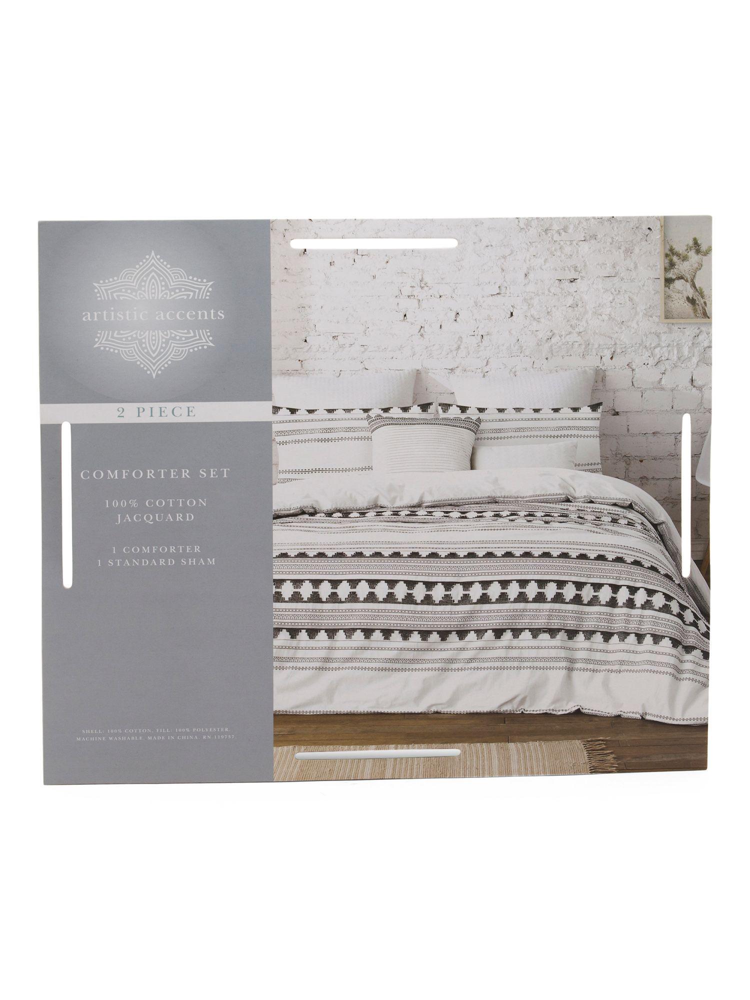 Textured Washed Cotton Comforter Set Bedroom T J Maxx