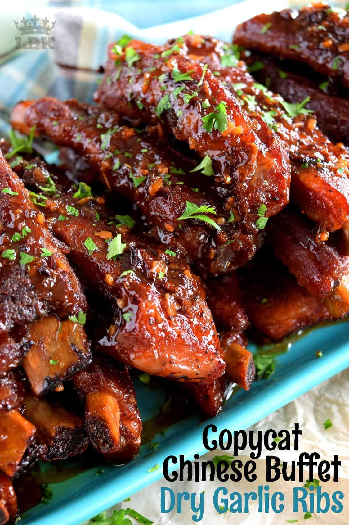 Copycat chinese restaurant dry garlic ribs lord byrons