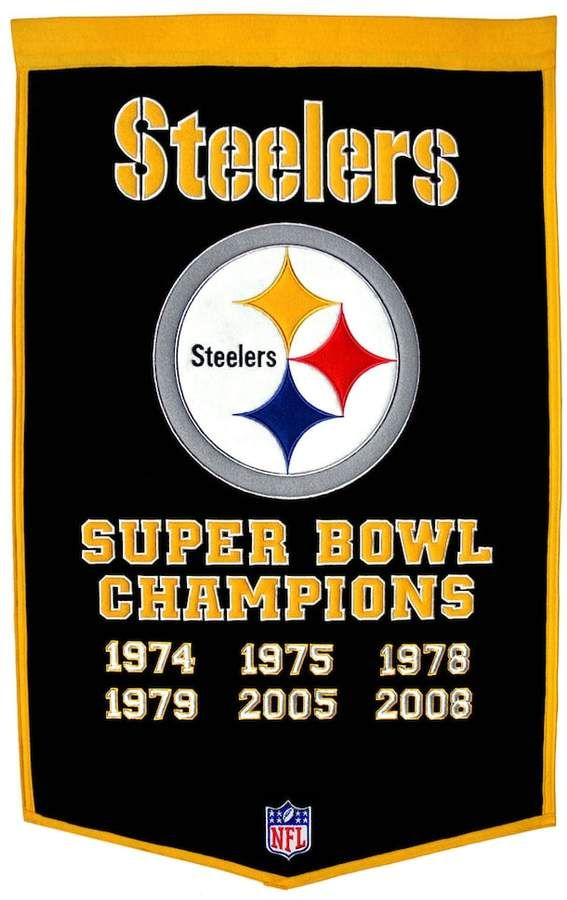 huge selection of d18b6 1f21a Pittsburgh Steelers Dynasty Banner | Products | Pittsburgh ...