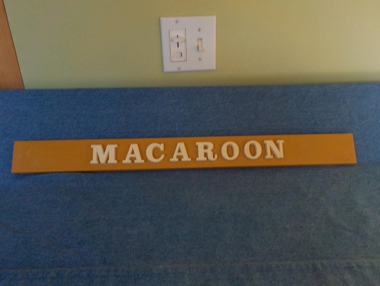 Howard Johnson S Macaroon Ice Cream Placard Ice Cream Sign Macaroons Fast Food Advertising
