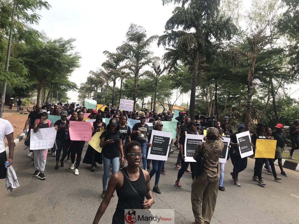 Sayhernamenigeria Protest Rocks Abuja Lagos Over Police Raid On Women Photos Protest Abuja Lagos