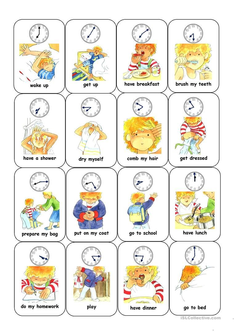 173 Free Esl Action Verbs Worksheets Pdf For Kindergarten Time And