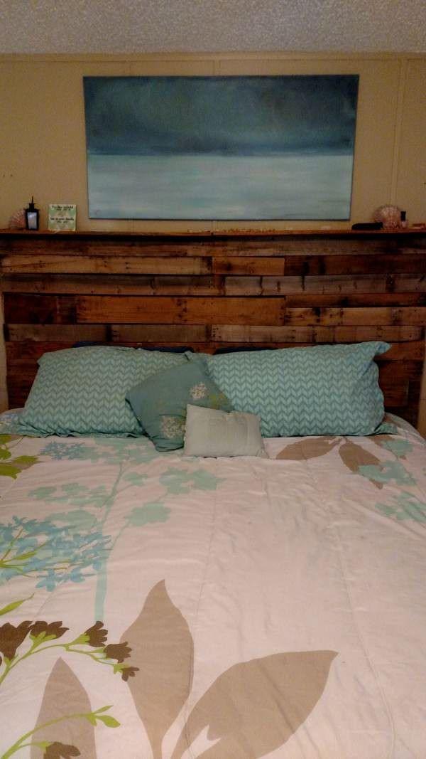 My 1st Pallet Project Pallet Bed Headboard